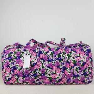 Vera Bradley Large Duffel Bag Flower Garden NWT